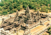 Angkor Wat Temple from above