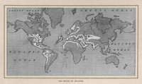 1882 Antediluvian World Map