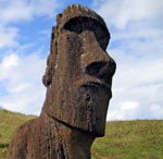 Moai looking over Easter Island