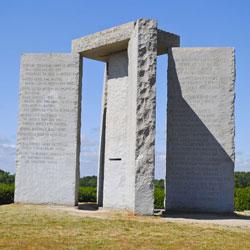 Blue Granite Megalithic Georgia Guidestones