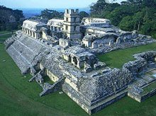 Palenque Palace with the observatory roof removed