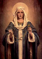 Mother Mary with the Rosary