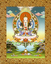 Tibetan Thangkas Bodhisattva