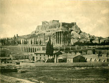 Acropolis with the temple of Zeus